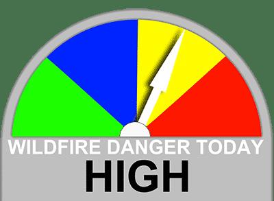 High Wildfire Danger Level
